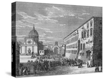'View in Naples', c1880-Unknown-Stretched Canvas Print
