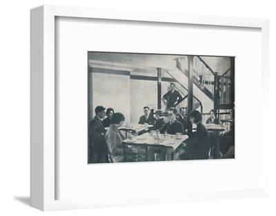 'Comfort for Passengers and the Cabin of a Marvellous Central Control', c1935-Unknown-Framed Photographic Print