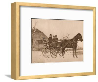'Men and women in a horse-drawn carriage', 1937-Louis Guichard-Framed Photographic Print