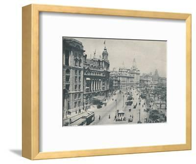 'In the Bund The Enterprising Foreigner Has Come To Stay', c1935-Unknown-Framed Photographic Print