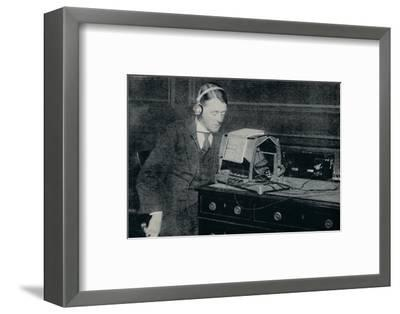 'Electricity Transforms the Printed World into Sound for the Blind', c1935-Unknown-Framed Photographic Print