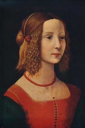 'Portrait of a Girl', c1490, (c1915)-Unknown-Framed Giclee Print