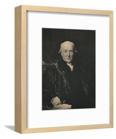 'John Julius Angerstein 1735-1823', early 19th century, (1928)-Unknown-Framed Giclee Print
