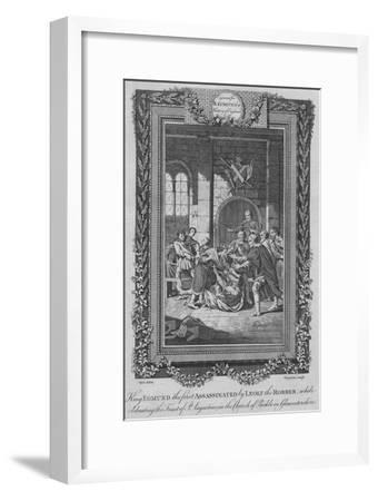 'King Edmund the first Assassinated by Leolf the Robbe', c1787-Unknown-Framed Giclee Print