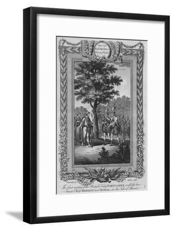 The first meeting of the British King Vortigern with the two Saxon Chiefs Hengist and Horsa-Unknown-Framed Giclee Print