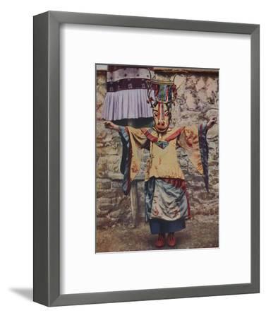 'Tibetan lama attired for the devil dance', c1935-Unknown-Framed Giclee Print