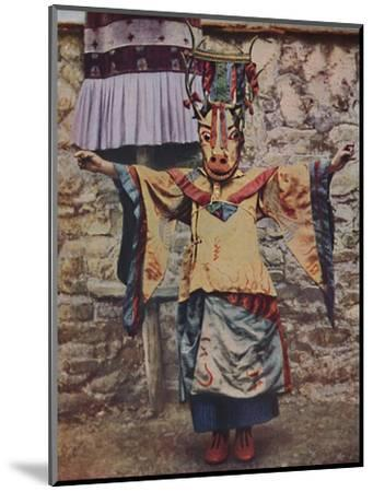 'Tibetan lama attired for the devil dance', c1935-Unknown-Mounted Giclee Print