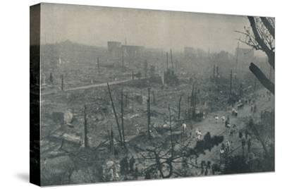 'Tokyo's Smouldering Plain of Wreckage and Ashes', c1935-Unknown-Stretched Canvas Print