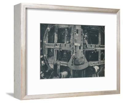 'Compound Greathead Shield Destroying A Barrier Between Two Countries', c1935-Unknown-Framed Photographic Print