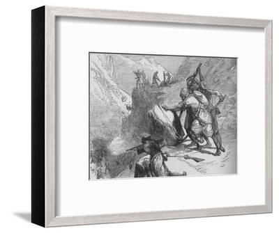 'Skirmish in a Mountain Pass', c1880-Unknown-Framed Giclee Print