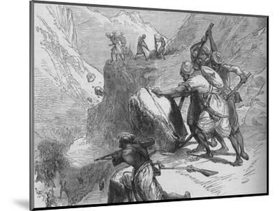 'Skirmish in a Mountain Pass', c1880-Unknown-Mounted Giclee Print