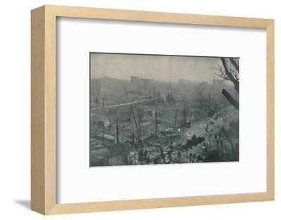 'Tokyo's Smouldering Plain of Wreckage and Ashes', c1935-Unknown-Framed Photographic Print