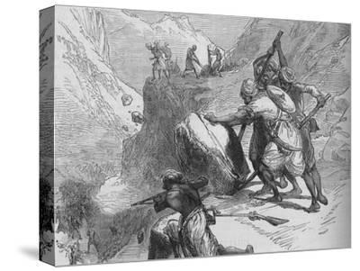 'Skirmish in a Mountain Pass', c1880-Unknown-Stretched Canvas Print