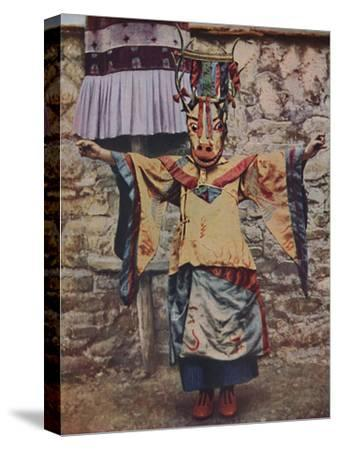 'Tibetan lama attired for the devil dance', c1935-Unknown-Stretched Canvas Print