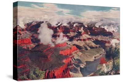 'Vermilion Cliffs and Vast Depths of an Unparalleled Wonderland', c1935-Unknown-Stretched Canvas Print