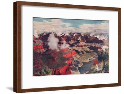 'Vermilion Cliffs and Vast Depths of an Unparalleled Wonderland', c1935-Unknown-Framed Giclee Print