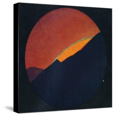 'The Green Flash at Sunset, Rarest Prismatic Colour Refracted by the Atmosphere', c1935-Unknown-Stretched Canvas Print