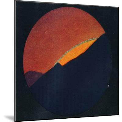 'The Green Flash at Sunset, Rarest Prismatic Colour Refracted by the Atmosphere', c1935-Unknown-Mounted Giclee Print