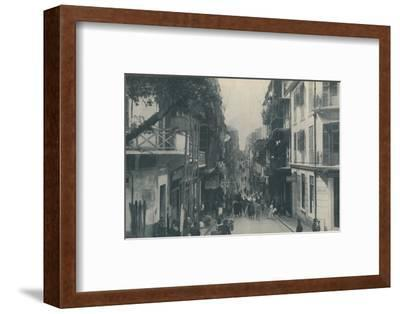 'Balconied Buildings of a Populous Trade Highway Running East and West, c1935-Unknown-Framed Photographic Print
