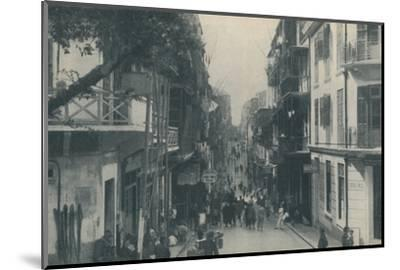 'Balconied Buildings of a Populous Trade Highway Running East and West, c1935-Unknown-Mounted Photographic Print
