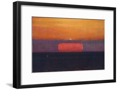 'The Green Flash at Sunset, Rarest Prismatic Colour Refracted by the Atmosphere', c1935-Unknown-Framed Giclee Print