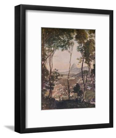 'Luxuriant woods on the hill of Santa Thereza looking down upon the roofs of Lapa', c1935-Unknown-Framed Giclee Print