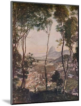 'Luxuriant woods on the hill of Santa Thereza looking down upon the roofs of Lapa', c1935-Unknown-Mounted Giclee Print