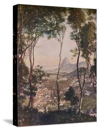 'Luxuriant woods on the hill of Santa Thereza looking down upon the roofs of Lapa', c1935-Unknown-Stretched Canvas Print