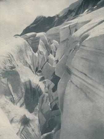 'Yawning Crevasse By The Bergli Above Grindelwald', c1935-Unknown-Framed Photographic Print
