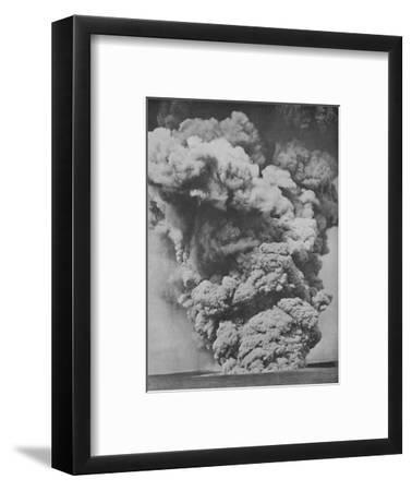 'Mephitic Cloud Belched Forth from the Mouth of Kilauea', c1935-Unknown-Framed Photographic Print