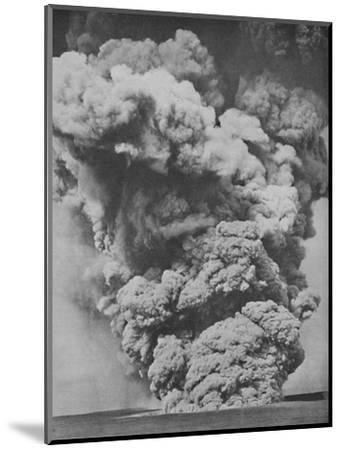 'Mephitic Cloud Belched Forth from the Mouth of Kilauea', c1935-Unknown-Mounted Photographic Print