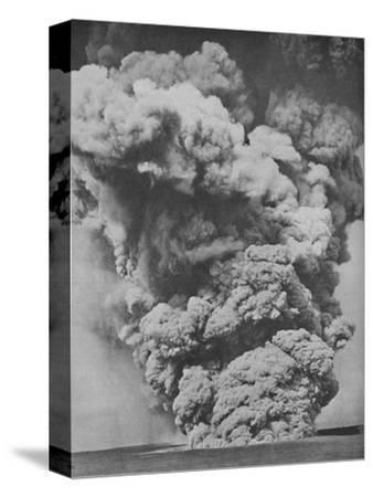 'Mephitic Cloud Belched Forth from the Mouth of Kilauea', c1935-Unknown-Stretched Canvas Print