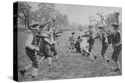 'Ancient Forms of the Dance Still Maintained in England - The Horn Dance', c1935-Unknown-Stretched Canvas Print