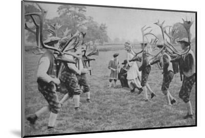 'Ancient Forms of the Dance Still Maintained in England - The Horn Dance', c1935-Unknown-Mounted Photographic Print