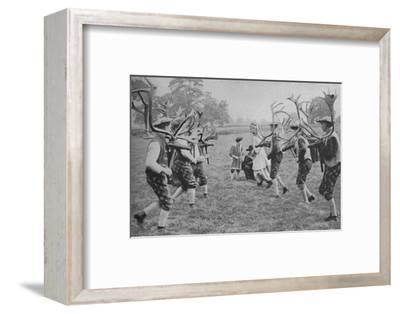 'Ancient Forms of the Dance Still Maintained in England - The Horn Dance', c1935-Unknown-Framed Photographic Print