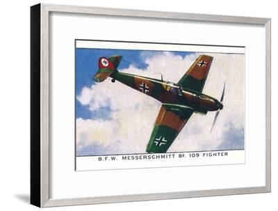 'B.F.W. Messerschmitt Bf. 109 Fighter', 1938-Unknown-Framed Giclee Print