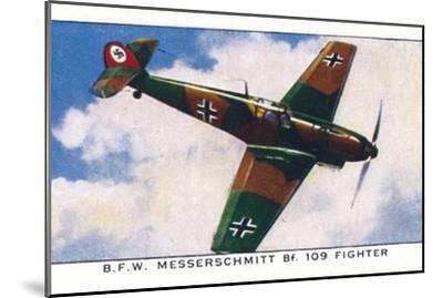 'B.F.W. Messerschmitt Bf. 109 Fighter', 1938-Unknown-Mounted Giclee Print