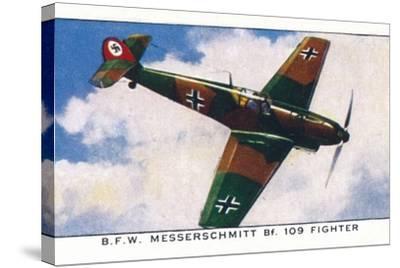 'B.F.W. Messerschmitt Bf. 109 Fighter', 1938-Unknown-Stretched Canvas Print