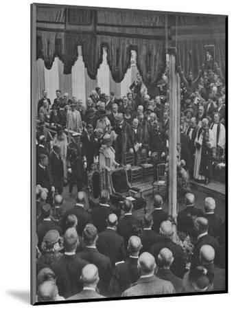 'H.M. The King laying the Foundation Stone of Lloyd's New Building 23 May 1925', (1928)-Unknown-Mounted Photographic Print