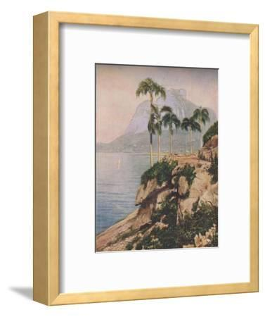 'the hill of Gavea - Vistas That Enchant The Eye Along The Winding Coast of Rio De Janeiro', c1935-Unknown-Framed Giclee Print
