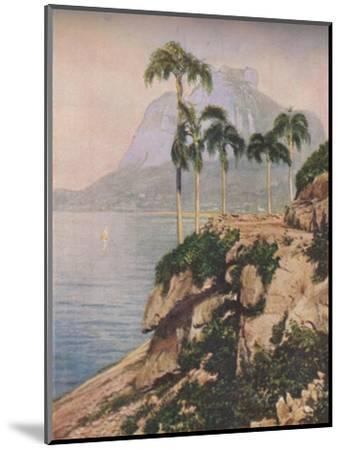 'the hill of Gavea - Vistas That Enchant The Eye Along The Winding Coast of Rio De Janeiro', c1935-Unknown-Mounted Giclee Print