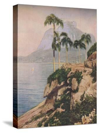 'the hill of Gavea - Vistas That Enchant The Eye Along The Winding Coast of Rio De Janeiro', c1935-Unknown-Stretched Canvas Print