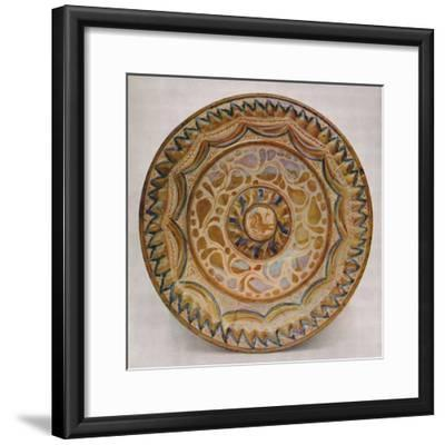 'Hispano-Moresque Lustre Dish with Blue Fish-Scale Border. 15th Century', 1928-Unknown-Framed Giclee Print