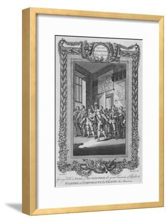 'George Villiers, Duke of Buckingham, the great Favourite of Charles I, stabbed', c1787-Unknown-Framed Giclee Print