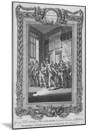'George Villiers, Duke of Buckingham, the great Favourite of Charles I, stabbed', c1787-Unknown-Mounted Giclee Print