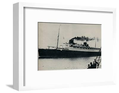 'Bremen: Germany's Candidate for the Speed Championship at Sea', c1935-Unknown-Framed Photographic Print