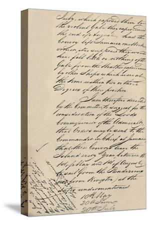 'Part of Letter Dated 31 December 1806 from Lloyd's to the Admiralty', (1928)-Unknown-Stretched Canvas Print