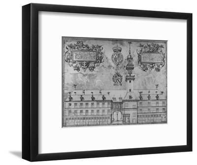 'The First Royal Exchange in 1569', c16th century, (1928)-Unknown-Framed Giclee Print