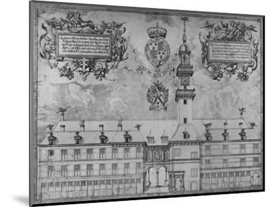 'The First Royal Exchange in 1569', c16th century, (1928)-Unknown-Mounted Giclee Print