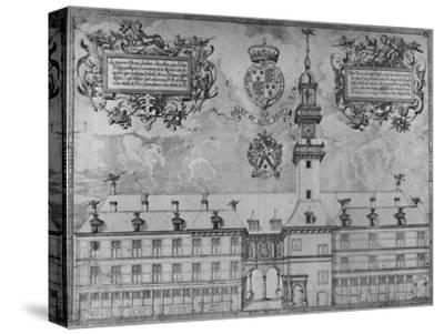 'The First Royal Exchange in 1569', c16th century, (1928)-Unknown-Stretched Canvas Print